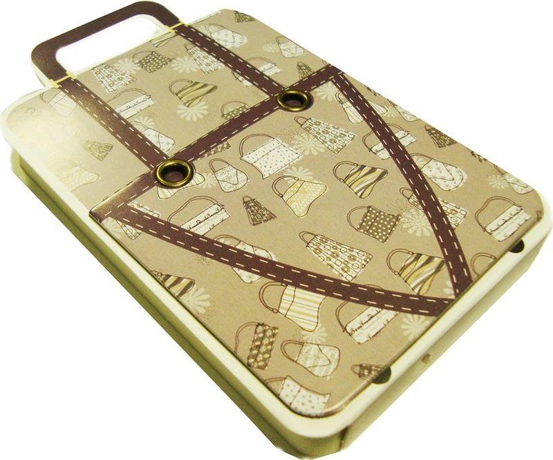 Zhelang Блокнот Чемодан бежевый с рисунком сумки 110 листов72523WDЗабавный блокнотик, выполненный в виде чемодана с ручкой. Состоит из 110 нелинованных листов.