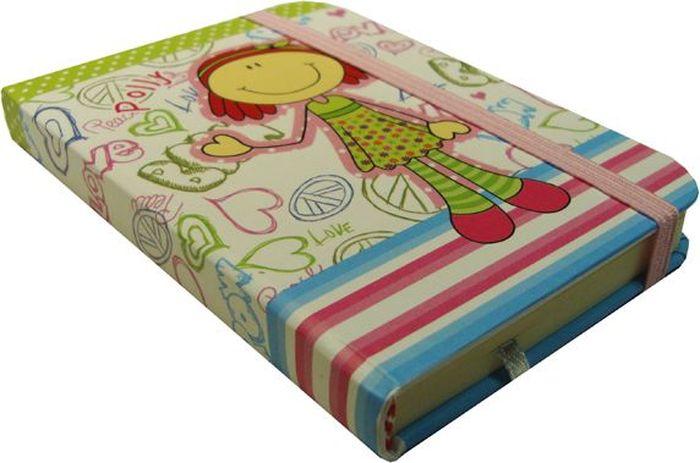 Zhelang Блокнот Девочка на белом фоне 80 листов в линейку8361СБлокнот с жесткой обложкой с 80 листами в линейку