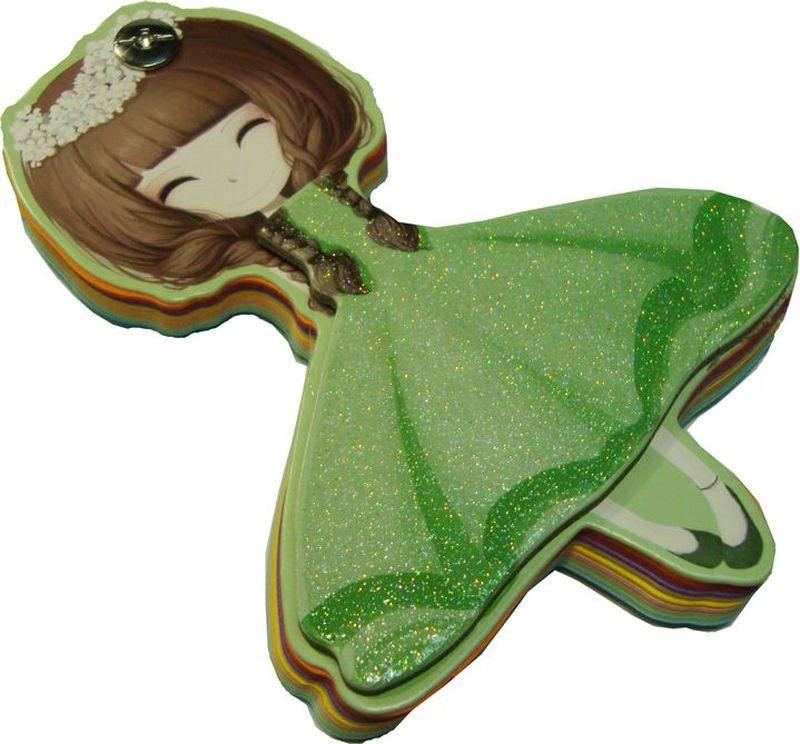 Zhelang Блокнот Девочка Зеленое платье 96 листов8361СБлокнот выполнен в виде фигурки девочки.
