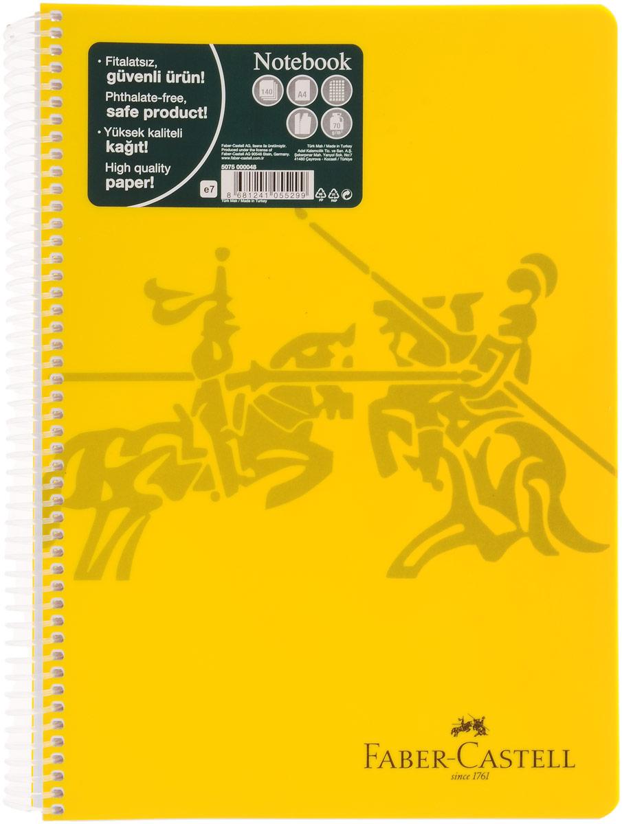 Faber-Castell Блокнот Knight 140 листов в клетку цвет желтый8361СОригинальный блокнот Faber-Castell Knight в твердой пластиковой обложке подойдет для памятных записей, любимых стихов и многого другого.Блок состоит из 140 листов в клетку. Блокнот изготовлен со спиралью. Такой блокнот станет не только достойным аксессуаром среди ваших канцелярских принадлежностей, но и практичным подарком для в близких и друзей.