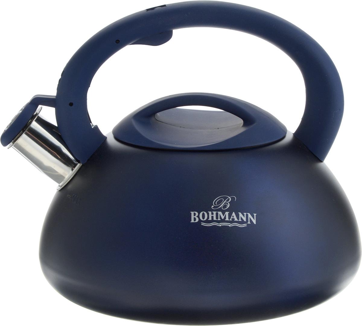 Чайник Bohmann, со свистком, 3 л. BH-9957115510Чайник Bohmann выполнен из высококачественнойнержавеющей стали, что делает его весьма гигиеничными устойчивым к износу при длительном использовании.Носик чайника оснащен насадкой-свистком, что позволитвам контролировать процесс подогрева или кипяченияводы. Чайник снабжен стальной крышкой и эргономичной ручкой из пластика с резиновымпокрытием. Эстетичный и функциональный чайник будеторигинально смотреться в любом интерьере. Подходит для всех типов плит, кроме индукционных.Можно мыть в посудомоечной машине.Высота чайника (с учетом ручки и крышки): 20 см. Диаметр чайника (по верхнему краю): 11 см. Диаметр индукционного дна: 16 см.
