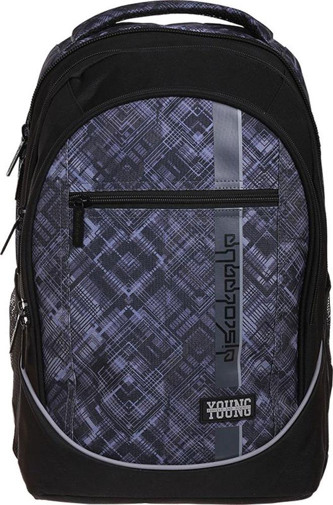 Berlingo Рюкзак BlackVS16-SB-001Рюкзак Berlingo - это современный многофункциональный молодежный рюкзак, выполненный из прочного износостойкого материала высокого качества.Эргономичная спинка и широкие регулируемые лямки обеспечат комфорт при носке. Плотная внутренняя подкладка устойчива к разрывам.Рюкзак имеет три основных отделения, встроенный органайзер и усиленное дно. На лицевой стороне расположен карман на застежке-молнии, а по бокам находятся сетчатые карманы. Рюкзак оснащен текстильной ручкой для удобной переноски в руке.Стильный дизайн и удобная конструкция рюкзака сделают его незаменимым аксессуаром в повседневном использовании.Светоотражающие элементы обеспечивают безопасность в темное время суток.