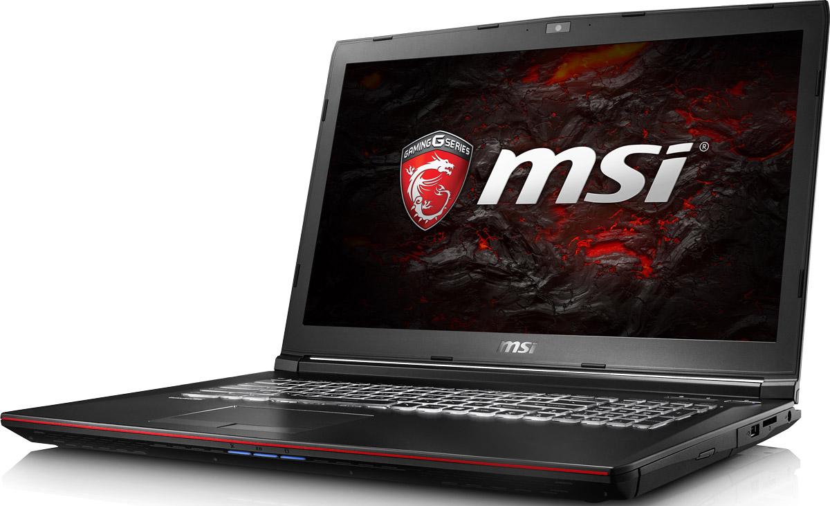 MSI GP72 7RDX-483RU Leopard, BlackGL702VM-GB030TMSI GP72 7RDX Kabylake i7-7700HQ+HM175/8GB DDRIV/1TB+128GB SSD/Super Multi/17.3 FHD, eDP/GTX 1050, 2GB GDDR5/WiFi+BT/Win 10/Black