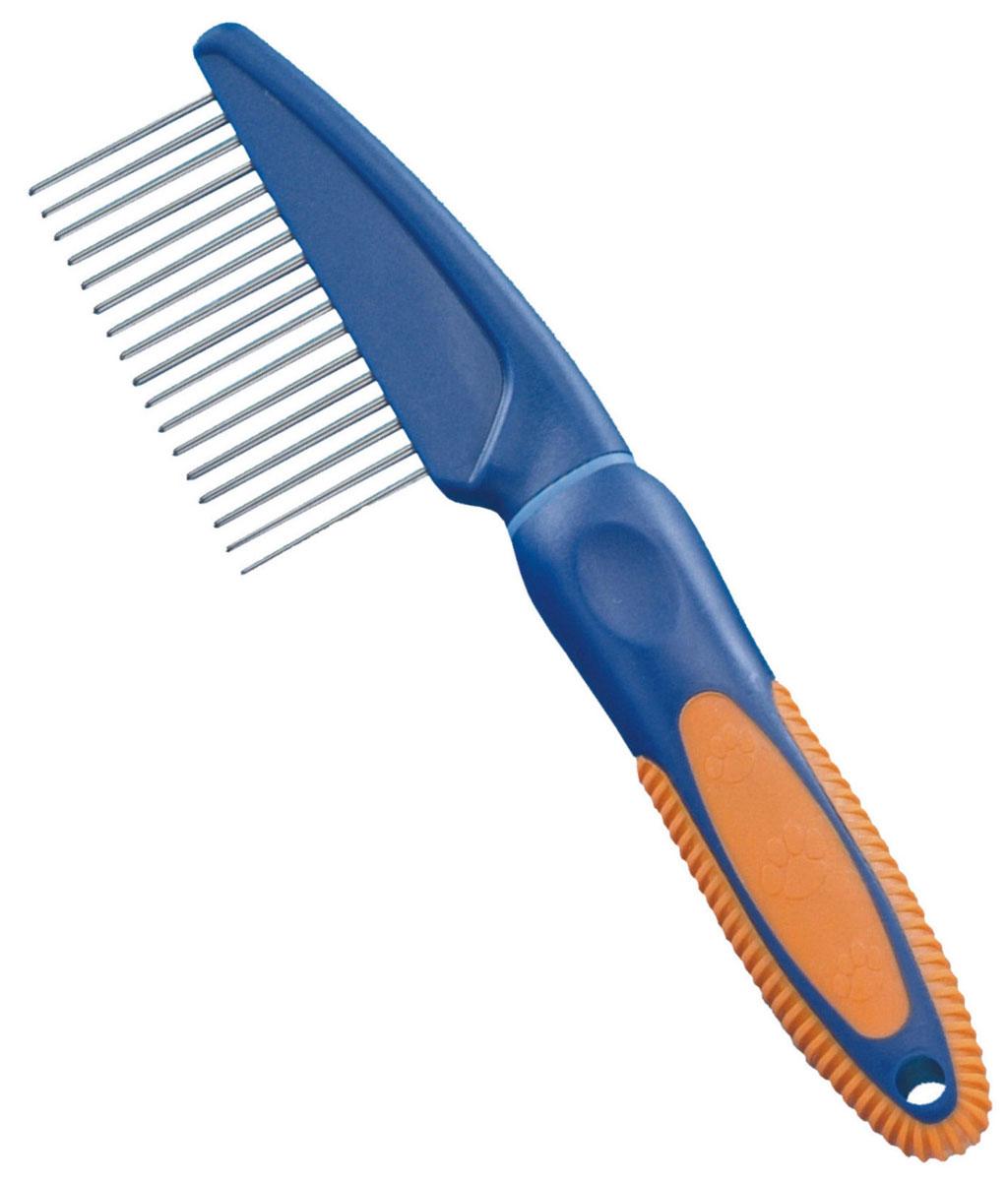 Расческа для животных Nobby. 794700120710Расческа металлическая с различной частотой и длиной зубьев для расчесывания различных видов шерсти.