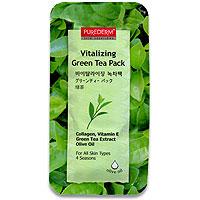 Набор освежающих масок Purederm. Зеленый чай, 10 мл x 55N581947Набор из 5 пакетов-саше по 10 мл с освежающей маской Purederm. Зеленый чай. Освежающая смываемая массажная маска содержит экстракт зеленого чая, оливковое масло. Экстракт зеленого чая освежает и повышает эластичность кожи, оливковое масло очищает и смягчает. Витамин Е и коллаген увеличивают эластичность кожи и отбеливают ее. Маска не занимает много времени, достаточно 5-10 минут, для того чтобы ваша кожа преобразилась и обрела здоровый, свежий вид. Подходит для всех типов кожи. Характеристики: Количество в упаковке: 5 штук. Производитель: Корея. Purederm - линия средств для быстрого и эффективного ухода за кожей. Современный ритм жизни требует от женщины высокой активности и подвижности, поэтому многие женщины сталкиваются с проблемой нехватки времени на уход за своей кожей. Линия Purederm предназначена специально для женщин, которые ценят свое время и заботятся о своей красоте! Достоинства косметики Purederm: ...