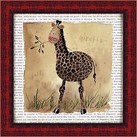 Жираф на сафари (Alex Clark). 18 х 18 см18x18 D2062-10418Художественная репродукция картины Alex Clark Giraffe on Safari. Размер постера (без багетной рамы): 18 см x 18 см. Общий размер постера: 21 см x 21 см. Артикул: 18x18 D2062-10418.