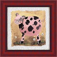 Поросёнок в пятнышко (Alex Clark), 18 х 18 см18x18 D2059-10418Художественная репродукция картины Alex Clark Spot the Pig. Размер постера: 18 см х 18 см Артикул: 18x18 D2059-10418.
