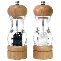 Набор: мельница для соли и мельница для перцаH105380Набор, состоящий из мельницы для перца и мельницы для соли, изготовлен из пластика и дерева. Мельницы легки в использовании, стоит только покрутить верхнюю часть, и вы с легкостью сможете поперчить или добавить соль по своему вкусу в любое блюдо. Оригинальные мельницы модного дизайна будут отлично смотреться на вашей кухне. Мельницы уже содержат внутри соль и перец! Характеристики: Материал: пластик, дерево. Размер мельницы: 16,5 см х 5,5 см х 5,5 см. Размер упаковки: 17 см х 12 см х 6 см. Артикул: H105380. Страна: Великобритания.