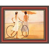 С видом на море (Dominguez), 17 x 22 см17x22 D2681-41440Художественная репродукция картины Dominguez Seaside Stroll. Размер постера: 17 см x 22 см. Артикул: 17x22 D2681-41440.