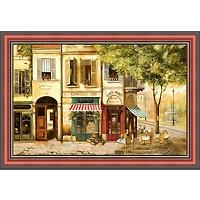 Парижское кафе (Fabrice de Villeneuve), 30 x 40 см30x40 A1103-41418Художественная репродукция картины Fabrice de Villeneuve Cafe de Paris. Размер постера: 30 см x 40 см. Артикул: 30x40 A1103-41418.