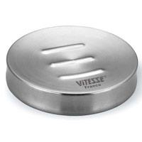 Мыльница Vitesse YittaVS-1665Мыльница Yitta изготовлена из нержавеющей стали 18/10 с элегантным матовым покрытием. Мыльница пригодна для мытья в посудомоечной машине. Характеристики: Диаметр мыльницы: 9,7 см. Высота мыльницы: 2 см. Толщина материала мыльницы: 0,5 мм. Материал: нержавеющая сталь. Артикул: VS-1665. Кухонная посуда марки Vitesse из нержавеющей стали 18/10 предоставит Вам все необходимое для получения удовольствия от приготовления пищи и принесет радость от его результатов. Посуда Vitesse обладает выдающимися функциональными свойствами. Легкие в уходе кастрюли и сковородки имеют плотно закрывающиеся крышки, которые дают возможность готовить с малым количеством воды и экономией энергии, и идеально подходят для всех видов плит: газовых, электрических, стеклокерамических и индукционных. Конструкция дна посуды гарантирует быстрое поглощение тепла, его равномерное распределение и сохранение. Великолепно отполированная поверхность, а...