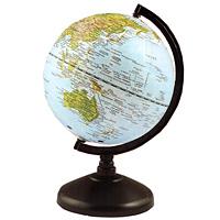 Глобус с физической картой мира. Диаметр 13 см20-0630, PGL1050Глобус с физической картой мира на удобной подставке, вращается вокруг собственной оси. Изготовлен из высококачественного пластика. Яркие цвета и точная картография. Все географические обозначения даны на русском языке.