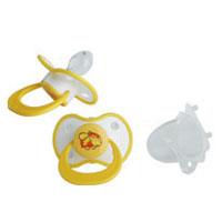 Мир Детства Пустышка силиконовая от 0 месяцев цвет желтый 2 шт