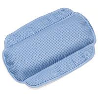 Подушка для ванной Alaska, цвет: голубой1070525Подушка для ванной Alaska изготовлена из высокопрочного вспененного полихлорвинила, крепится при помощи присосок. Такая подушка будет незаменима для тех, кто любит понежиться в ванной, а также станет приятным и оригинальным подарком. Подушку можно стирать в стиральной машине при температуре 30 градусов. Характеристики: Материал: полихлорвинил. Размер подушки: 23 см х 32 см. Цвет: голубой. Артикул: 1070525. Производитель: Швейцария.
