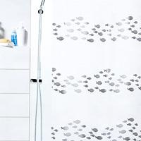 Штора Shore silver, 180х2001011571Штора для ванной комнаты Shore silver с изображением рыбок изготовлена из полиэтиленвинилацетата. В верхней кромке шторы сделаны отверстия для колец. Штору можно стирать только руками. Шторы от компании Spirella отличает яркий, красочный дизайн рисунков и высокое качество (гарантия на изделие 3 года). Сделайте Вашу ванную комнату еще красивее! Характеристики: Материал: пластик. Размер шторы: 180 см х 200 см. Цвет рисунка: серебристый. Производитель: Швейцария. Артикул: 1011571.