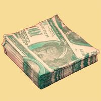Салфетки Доллары01010Качественные бумажные салфетки с увеличенным изображением купюр в 100 долларов - оригинальный сувенир для людей, ценящих чувство юмора. Характеристики: Размер упаковки: 16,5 см x 16,5 см х 3 см. Размер салфетки: 33 см x 33 см. Материал: бумага. Артикул: 01010.