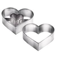 Набор формочек для выпечки Сердце, 2 шт. 63119094672Формочки Сердце идеально подойдут для вырезания теста при выпечке печенья. Формочки предназначены для приготовления печенья с начинкой. Изготовлены из прочного металла.Характеристики: Материал: металл. Размер: 5 см х 4,5 см х 1,5 см. Комплектация: 2 шт. Производитель: Чехия. Артикул: 631190.