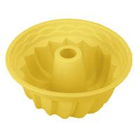 Форма для выпечки кекса Tescoma Delicia Silicone, круглая, цвет: желтый, диаметр 24 см629224Круглая форма Tescoma Delicia Silicone будет отличным выбором для всех любителей выпечки. Благодаря тому, что форма изготовлена из силикона, готовую выпечку вынимать легко и просто. Стенки формы оснащены рельефной поверхностью. Форма прекрасно подходит для выпечки кексов. С такой формой вы всегда сможете порадовать своих близких оригинальной выпечкой. Материал изделия устойчив к фруктовым кислотам, может быть использован в духовках, микроволновых печах, холодильниках и морозильных камерах (выдерживает температуру от -40°C до 230°C). Антипригарные свойства материала позволяют готовить без использования масла. Можно мыть и сушить в посудомоечной машине. При работе с формой используйте кухонный инструмент из силикона - кисти, лопатки, скребки. Не ставьте форму на электрическую конфорку. Не разрезайте выпечку прямо в форме.