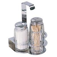 Набор Tescoma для соли, перца и зубочисток. 654022654022Набор Tescoma для соли и перца благодаря своим компактным размерам не займет много места на вашей кухне. Емкости умещаются на подставке и надежно удерживаются на ней. К подставке прикреплена металлическая ручка. В комплект также входит емкость для зубочисток. Очень удобно, когда во время приготовления пищи соль и перец под рукой! Набор Tescoma для соли, перца и зубочисток станет отличным подарком каждой хозяйке. Характеристики: Материал: стекло, сталь. Высота емкости для соли и перца: 7 см. Высота емкости для зубочисток: 6 см. Диаметр емкости для соли и перца: 3,7 см. Диаметр емкости для зубочисток: 3 см. Размер упаковки: 10,5 см х 11 см х 8 см. Производитель: Чехия. Артикул: 654022. Уважаемые клиенты! Обращаем ваше внимание: cоль, перец и зубочистки в набор не входят.