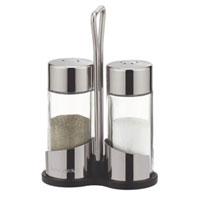 Набор Tescoma: солонка и перечница. 650320650320Набор Tescoma, состоящий из солонки и перечницы, изготовлен из первоклассной нержавеющей стали и стекла. Солонка и перечница легки в использовании: стоит только перевернуть емкости, и вы с легкостью сможете поперчить или добавить соль по вкусу в любое блюдо. Дизайн, эстетичность и функциональность набора позволят ему стать достойным дополнением к кухонному инвентарю. Обработка поверхности металлических частей – сильный блеск. Характеристики: Материал: стекло, сталь. Высота емкости: 8,5 см. Диаметр основания: 3,5 см. Размер упаковки: 9 см х 4,5 см х 13,5 см. Производитель: Чехия. Артикул: 650320.