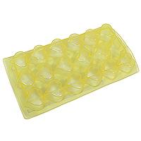 Форма для льда Сердце, цвет: желтый , 18 ячеекVT-1520(SR)Форма для льда Metaltex Сердце, цвет: синий, 18 ячеек
