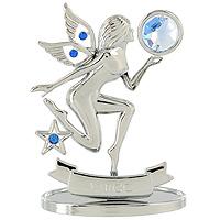 Сувенир Знаки зодиака: Дева, цвет: серебристый, 8,5 смU0262-001-CBLBДекоративное изделие, выполненное в виде знака зодиака Дева, оформленное голубыми и синими кристаллами Swarovski, изготовлено из высококачественной стали. Оригинальный сувенир будет отличным подарком для ваших друзей и коллег. Более 30 лет компания Crystocraft создает качественные, красивые и изящные сувениры, декорированные различными кристаллами Swarovski. Характеристики: Материал: сталь, кристаллы Swarovski. Высота: 8,5 см. Размер упаковки: 9,5 см х 11 см х 4,5 см. Артикул: U0262-001-CBLB. Производитель: Китай.