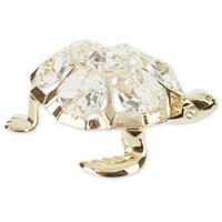 Миниатюра Морская черепаха, цвет: золотистый, 6 смU0209-001-GCДекоративное изделие в виде черепахи, панцирь которой украшен кристаллами Swarovski, изготовлено из высококачественной стали. Оригинальная миниатюра будет отличным подарком для ваших друзей и коллег. Более 30 лет компания Crystocraft создает качественные, красивые и изящные сувениры, декорированные различными кристаллами Swarovski. Характеристики: Материал: сталь, кристаллы Swarovski. Длина: 6 см. Размер коробки: 6,5 см х 9 см х 4,5 см. Артикул: U0209-001-GC1. Производитель: Китай.