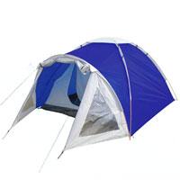 Палатка Columbus Cambridge Pro двухслойная, двухместная, цвет: синий2744Двухслойная палатка Cambridge Pro выполнена из полиэстера. Дуги изготовлены из алюминия. Также имеется просторный светлый тамбур при входе в палатку с обзорными окнами. Палатка предназначена для путешествий. Упакована в чехол с удобной ручкой для переноски.
