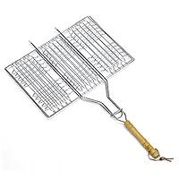 Решетка-гриль Искра для мяса, тройная94672Решетка Искра предназначена для приготовления мяса, креветок, куриных крылышек и так далее. Изготовлена из высококачественной стали. Идеально подходит для мангалов и барбекю.Решетка имеет удобную деревянную ручку. Характеристики:Материал:сталь, дерево. Размер решетки:34 см x 23 см. Высота решетки:2 см. Длина ручки: 29 см. Артикул:RDG-40. Производитель:Россия. Изготовитель: Китай.