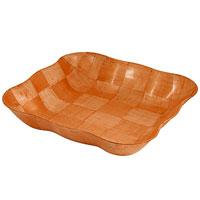 Ваза для фруктов Oriental way Шафран 27,5 х 27,5см RPP-1111BRPP-1111BОригинальная деревянная ваза Шафран прекрасно подойдет для вашей кухни. Предназначена для красивой сервировки фруктов. Ваза выполнена из высококачественной древесины березы. Изящный дизайн придется по вкусу и ценителям классики, и тем, кто предпочитает утонченность и изысканность. Характеристики: Материал: дерево. Размер: 27,5 см х 27,5 см х 6 см. Производитель: Тайвань. Артикул: RPP-1111B. Торговая марка Oriental way известна на рынке с 1996 года. Эта марка объединяет товары для кухни, изготовленные из дерева и других материалов. Все товары марки Oriental way являются безопасными для здоровья, экологичными, прочными и долговечными в использовании.