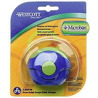 Точилка Westcott с антибактериальным покрытием, цвет: синий, зеленыйFS-54103Точилка Westcott со встроенной антибактериальной защитой Microban очень удобна и функциональна. Точилка включает в себя два отверстия для карандашей разного диаметра и ластик для удаления с бумаги надписей, сделанных чернографитными карандашами. Поворотный футляр полностью защищает ластик от грязи и пыли. Также точилка оснащена контейнером для сбора стружки.Microban предоставляет круглосуточную защиту, препятствую размножению бактерий:Эффективен против широкого спектра грамположительных и грамотрицательных бактерий и грибков, таких каксальмонелла, золотистый стафилококк и др., вызывающие заболевания, сопровождающиеся расстройством кишечника, грибковые заболевания и т.д. (всего около 100 микроорганизмов);Сохраняет свои свойства после мытья и в случае механического повреждения изделия; Антибактериальные свойства Microban не исчезают со временем и не снижают свою эффективность; Microban абсолютно безвреден для людей и животных, не вызывает аллергии. Характеристики: Размер: 6,5 см х 5,5 см х 2 см. Размер упаковки:14 см х 11,5 см х 2 см. Нас окружает огромное количество бактерий, многие из которых не безопасны, поэтому все большеечисло товаров выпускается со встроенной антибактериальной защитой. Немецкая торговая марка WESTCOTT- единственная на российском рынке, в ассортименте которой представлены канцелярские товары сMicroban, самым надежным в мире средством для защиты от грибков и бактерий, которое давно и с успехомприменяется при производстве более 700 товаров.