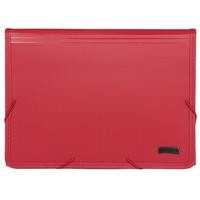 """Папка на резинке """"Comix"""", с цветными индексами, цвет: бордовый KF4302J красн."""
