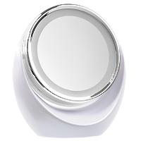 Gezatone Зеркало двустороннее косметологическое с подсветкой и пятикратным увеличением1301203Двустороннее настольное косметологическое зеркало Gezatone с пятикратным увеличением и светодиодной подсветкой доставит Вам удовольствие в уходе за собой и станет незаменимым помощником для любой современной женщины. Одна сторона зеркала представляет собой стандартное зеркало. Вторая - имеет пятикратный увеличивающий эффект, что позволяет проводить косметические процедуры по уходу за лицом. Дополнительный комфорт создает наличие круговой мягкой светодиодной подсветки с обеих сторон. Это позволяет более детально рассмотреть проблемные участки на лице и наносить маккиях с идеальной точностью. Отличительная особенность модели - способность зеркальной поверхности вращаться на 360 градусов. Благодаря современному эргономичному дизайну зеркало впишется в любой интерьер. Подсветка работает от 3 батареек 1,5V типа АА (не входят в комплект). Характеристики: Материал: зеркало, пластик. Диаметр зеркальной поверхности: 13,4 см. Рекомендуется...