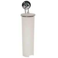 Держатель для ватных дисков EverLoc на присосках. 10246UP210DFДержатель для ватных дисков EverLoc на присосках, выполненная из пластика и хромированной стали, станет незаменимым аксессуаром в вашей ванне. Держатель впишется в интерьер вашей ванной и позволит вам удобно и практично хранить ватные диски. Полка крепится к стене при помощи уникальных вакуумных присосок EverLoc. Присоски EverLoc держатся на всех гладких и неровных поверхностях, могут служить годами, не требуя перевешивания, а при необходимости без усилий снимаются и перевешиваются на новое место.Составные элементы присосок EverLoc:Хромированный корпус.ABC пластик - высококачественный пластик с прекрасно сбалансированными свойствами: высокая жесткость и стойкость к ударным нагрузкам, в том числе при низких температурах. Температура эксплуатации в интервале от -40°С до +80°С.Вакуумная система (черный диск). Синтетический каучук - высокополимерный материал: эластичный, износостойкий, устойчив к действию влаги, кислот и щелочей. Температура эксплуатации в интервале от -20°С до +60°С.Кольцо-уплотнитель. Силикон - это эластомер, обладающий уникальными свойствами, важнейшими из которых являются сохранение эластичности в широком интервале температур, а также биологическая инертность и долговечность. Температура эксплуатации в интервале от -100°С до +250°С. Характеристики:Материал: пластик, сталь, силикон. Диаметр основания присоски: 5,5 см. Высота контейнера с крышкой: 26,5 см. Максимальная нагрузка: 20 кг. Температура эксплуатации: -20°С до +60°С. Размер коробки: 27,5 см х 9 см х 12 см. Производитель: Швейцария. Артикул: EL-10246.Внимание!Присоску EverLoc нельзя использовать на пористых, воздухопроницаемых поверхностях, таких, как мрамор, неглазурованная керамическая плитка, незащищенное дерево.