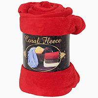 Плед флисовый Coral Fleece, цвет: красный, 220 х 200 смРК-200-220Приятный на ощупь плед Coral Fleece, выполненный из микроволокна, добавит комнате уюта и согреет в прохладные дни. Он имеет две одинаковые стороны. Удобный, большой размер этого очаровательного пледа позволит вам использовать его и как одеяло, и как покрывало для кресла или софы. Плед сохраняет все свои свойства после многократных стирок. Такое теплое украшение может стать отличным подарком друзьям и близким!