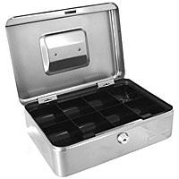 Кэшбокс Office-Force Т28, цвет: серебро96515412Вашему вниманию предлагается металлический ящик для хранения денег и мелких предметов с ключевым замком. Стальной корпус окрашен методом напыления краски в серебряный цвет.В комплект входят 2 ключа. Внутри пластиковый лоток для мелочи. Для удобства транспортировки предусмотрена никелированная ручка. Характеристики:Материал: металл, пластик. Размер кэшбокса: 25 см х 18 см х 9 см. Цвет: серебро. Изготовитель: Китай. Артикул: 10028.