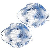 Набор тарелок Marine, цвет: голубой, 6 шт10257BMНабор Marine состоит из 6 тарелок в форме рыбок. Изделия, выполненные из закаленного стекла с оттенком голубого цвета, предназначены для красивой сервировки различных блюд. Тарелки сочетают в себе изысканный дизайн с максимальной функциональностью. Оригинальность оформления придется по вкусу и ценителям классики, и тем, кто предпочитает утонченность и изящность. Характеристики: Материал: стекло. Размер тарелки: 26 см х 2 см х 21 см. Размер упаковки: 25 см х 22 см х 7 см. Комплектация: 6 шт. Производитель: Турция. Изготовитель: Россия. Артикул: 10257BM.