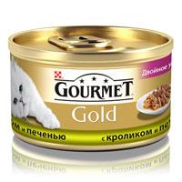 Консервы для кошек Gourmet Gold, с кроликом и печенью, 85 г12032395Корм Gourmet Gold консервированный полнорационный для взрослых кошек, с кроликом и печенью. Рекомендации по кормлению: Для взрослой кошки среднего веса требуется 4 баночки корма Gourmet Gold в день. Кормление необходимо разделить минимум на два приема. Индивидуальные потребности животного могут отличаться, поэтому норма кормления должна быть скорректирована для поддержания оптимального веса вашей кошки. Для беременных и кормящих кошек - кормление без ограничений. Подавать корм комнатной температуры. Следите, чтобы у вашей кошки всегда была чистая, свежая питьевая вода. Условия хранения: Закрытую банку хранить в сухом прохладном месте. После открытия продукт хранить максимум 24 часа. Состав: мясо и субпродукты (из которых кролика 4%, печени 4%), экстракт растительного белка, злаки, рыба и продукты переработки рыбы, сахара, минеральные вещества. Добавки МЕ/кг: Витамины: А 1540, D3 240; мг/кг...