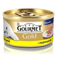 Консервы для кошек Gourmet Gold, паштет с курицей, 85 г0120710Корм Gourmet Gold консервированный полнорационный для взрослых кошек.Рекомендации по кормлению: для взрослой кошки среднего веса требуется 4 баночки корма Gourmet Gold в день. Кормление необходимо разделить минимум на два приема. Индивидуальные потребности животного могут отличаться, поэтому норма кормления должна быть скорректирована для поддержания оптимального веса вашей кошки. Для беременных и кормящих кошек - кормление без ограничений. Подавать корм комнатной температуры.Следите, чтобы у вашей кошки всегда была чистая, свежая питьевая вода. Условия хранения: Закрытую банку хранить в сухом прохладном месте. После открытия продукт хранить максимум 24 часа.Состав: мясо и субпродукты (из которых курицы 4%), продукты переработки овощей, минеральные вещества, сахара.Добавленные вещества: МЕ/кг: Витамин А: 1440; витамин D3: 220. мг/кг: железо: 10; йод: 0,2; медь: 0,9; марганец: 1,9; цинк: 10.С консервантом. Гарантируемые показатели: влажность 77%, белок 11%, жир 7%, сырая зола 3%, сырая клетчатка 0,1%.Товар сертифицирован.