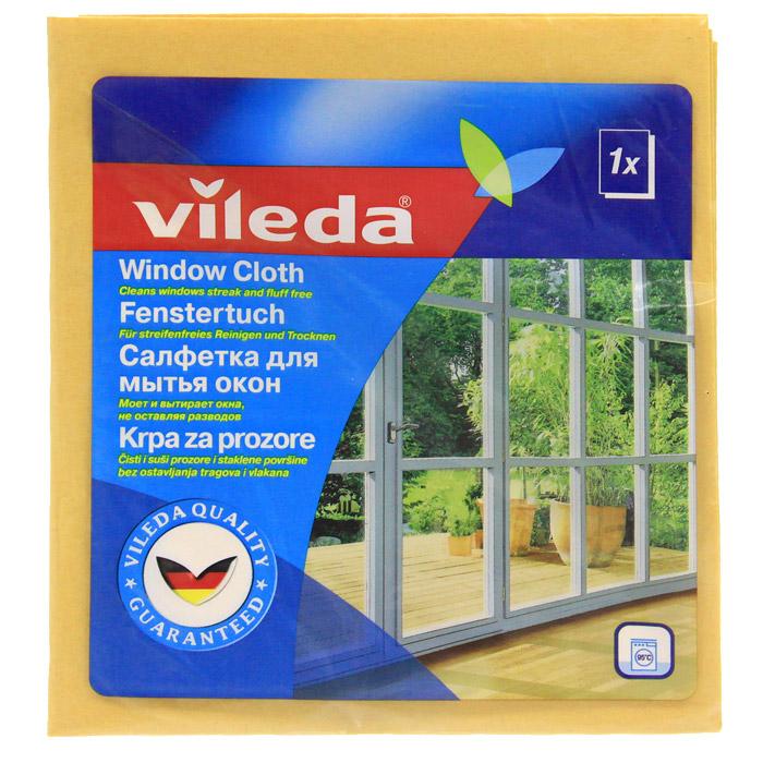 Салфетка для мытья окон Vileda, цвет: оранжевый, 36 х 40 см3529-6Использовать во влажном состоянии.