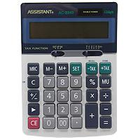 Калькулятор Assistant AC-2340, 12-разрядныйFS-00103Классический настольный калькулятор с большим 12-разрядным дисплеем и чувствительной клавиатурой с большими пластиковыми кнопками. Калькулятор имеет двойную систему питания: от солнечного элемента и от батареи, - что гарантирует ему бесперебойную работу на несколько лет. 12-ти разрядный дисплейВычисление процентовТАХ - функцияОперации с наценками и скидкамиДвойное питаниеПластиковые кнопки Металлическая лицевая панель Чувствительная клавиатураУдаление последнего введенного символа Характеристики: Размер калькулятора: 17 x 12,2 x 3,3 см. Размер дисплея: 10 см х 2,1 см. Цвет: черный. Изготовитель: Китай.