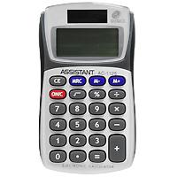 Калькулятор Assistant AC-1125, 8-разрядныйAC-1125Необычная форма карманного калькулятора позволит Вам удобно разместить его в ладошке и легко произвести необходимые подсчеты. Калькулятор оснащен 8-разрядным большим дисплеем и чувствительной клавиатурой. Калькулятор имеет двойную систему питания: от солнечного элемента и от батареи. 8-разрядный дисплей Вычисление процентов Двойное питание Резиновые кнопки Большой дисплей Чувствительная клавиатура Металлическая лицевая панель Характеристики: Размер калькулятора: 10,1 x 5,75 x 1,6 см. Размер дисплея: 3,6 см х 1,6 см. Цвет: черный, серый. Изготовитель: Китай.