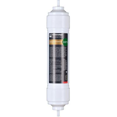 Фильтр Новая вода, сорбционный, с шунгитом. К873К873Сорбционный картридж с шунгитом для фильтров Expert. Фильтрующий элемент K873 используется в качестве третьей ступени фильтра Новая Вода Expert М330. Подходит также для модернизации моделей Expert M200, M300, M305. Очищает воду от широкого спектра органических и неорганических растворенных примесей (свободного хлора, хлорорганических соединений, пестицидов, гербицидов, сельскохозяйственных удобрений и продуктов их распада, нефтепродуктов, фенолов, тяжелых металлов, радиоактивных элементов, иных органических и неорганических соединений), устраняет неприятный запах воды, улучшает ее вкус. Содержит природную фильтрующую среду (шунгит), обладающую превосходными сорбционными, каталитическими и бактерицидными свойствами.