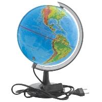 Глобус Rotondo с физической и политической картами мира. Диаметр 20 смRG20/DB/LГеографический глобус Rotondo с физической и политической картами мира станет незаменимым атрибутом обучения не только школьника, но и студента. Глобус дает представление о строении поверхности Земли и о политическом устройстве мира. На нем отображены линии картографической сетки, рельеф суши и морского дна, элементы почвенно-растительного покрова, теплые и холодные течения, показаны границы государств, столицы и крупные населенные пункты. Обозначения представлены на русском языке. Глобус имеет функцию подсветки от электрической сети. Глобус является уменьшенной и практически не искаженной моделью Земли и предназначен для использования в качестве наглядного картографического пособия, а также для украшения интерьера квартир, кабинетов и офисов. Красочность, повышенная наглядность визуального восприятия взаимосвязей, отображенных на глобусе объектов и явлений, в сочетании с простотой выполнения по нему различных измерений делают глобус доступным широкому кругу...