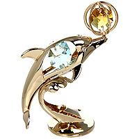 Фигурка декоративная Дельфин. 67149UP210DFДекоративная фигурка выполнена в виде дельфина, оформленного кристаллами Swarovski светло-зеленого и желтого цветов. Фигурка будет вас радовать и достойно украсит интерьер вашего дома или офиса. Вы можете поставить украшение в любом месте, где оно будет удачно смотреться и радовать глаз. Кроме того, эта фигурка - отличный вариант подарка для ваших близких и друзей. Характеристики:Материал:углеродная сталь, австрийские кристаллы. Размер фигурки: 8 см х 7 см х 3 см. Размер упаковки: 9 см х 6,5 см х 4,5 см. Производитель: Китай. Артикул: 67149.Более чем 30 лет назад компанияCrystocraftвыросла из ведущего производителя в перспективную торговую марку, которая задает тенденцию благодаря безупречному чувству красоты и стиля. Компания создает изящные, качественные, яркие сувениры, декорированные кристалламиSwarovskiразличных размеров и оттенков, сочетающие в себе превосходное мастерство обработки металлов и самое высокое качество кристаллов.