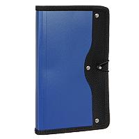 Визитница Index, на 120 визиток, цвет: синийICH45/BLСовременная практичная и вместительная визитница в обложке из высококачественного полипропилена с тканевой окантовкой и застежкой-резинкой рассчитана на 120 визиток. Характеристики: Материал: текстиль, пластик, металл. Размер визитницы (в закрытом виде): 14 см х 23,5 см х 1,5 см.