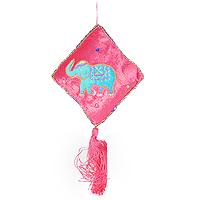 """Феникс-Презент Подвесное новогоднее украшение """"Подушка"""", цвет: розовый. 12665"""