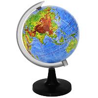 Глобус Rotondo с физической картой мира. Диаметр 10,6 смFS-00897Географический глобус Rotondo с физической картой мира станет незаменимым атрибутом обучения не только школьника, но и студента. На глобусе отображены линии картографической сетки, гидрографическая сеть, рельеф суши и морского дна, элементы почвенно-растительного покрова, крупнейшие населенные пункты, теплые и холодные течения.Глобус является уменьшенной и практически не искаженной моделью Земли и предназначен для использования в качестве наглядного картографического пособия, а также для украшения интерьера квартир, кабинетов и офисов. Красочность, повышенная наглядность визуального восприятия взаимосвязей, отображенных на глобусе объектов и явлений, в сочетании с простотой выполнения по нему различных измерений делают глобус доступным широкому кругу потребителей для получения разнообразной познавательной, научной и справочной информации о Земле. Характеристики: Общая высота:18 см. Диаметр глобуса:10,6 см. Масштаб:1:120000000. Размер упаковки:15 см x 20,5 см x 8,5 см.