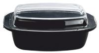 Ростер Vitesse Audrey, овальный, 5,4 лVS-1160Овальный ростер Audrey изготовлен из алюминия с трехслойной системой антипригарного покрытия Xylan Quan Tanium. Алюминиевое дно равномерно распределяет тепло по поверхности посуды и доводит блюдо до полной готовности. Литые ручки обеспечивают удобство при эксплуатации. Форма кромки ростера предотвращает разливание жидкости, а благодаря правильности линий кромки в комбинации с крышкой обеспечивается максимальная герметизация между ними. Прозрачная крышка, выполненная из термостойкого стекла, позволяет следить за процессом приготовления пищи. Ростер подходит для газовых, электрических и стеклокерамических плит и пригоден для мытья в посудомоечной машине. Характеристики: Материал: алюминий, стекло, сталь. Размер ростера (без учета ручек и крышки): 34 см x 22 см x 10 см. Толщина стенок: 2,5 мм. Объем: 5,4 л. Изготовитель: Китай. Артикул: VS-1160.