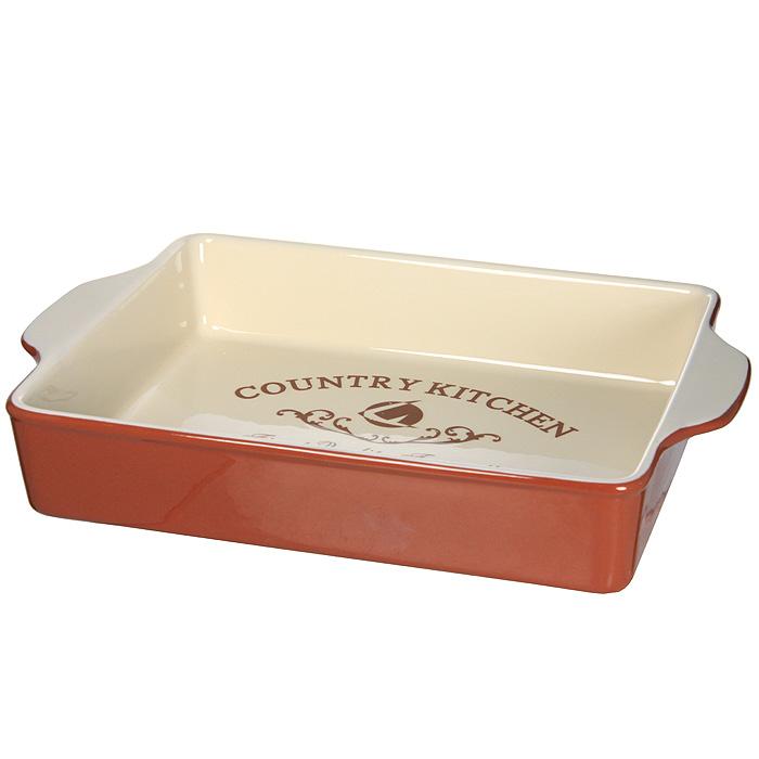 Блюдо для выпечки Terracotta Кухня в стиле Кантри TLY1709-CK-AL300196Для всех любителей домашней выпечки это блюдо будет отличным выбором. Форма выполнена из жаропрочной керамики и покрыта высококачественной глазурью. Преимущества керамической посуды:отсутствие выделений химических примесей;равномерный нагрев;долгое сохранение температуры;сохранение витаминов и других ценных питательных веществ.Блюдо Кухня в стиле Кантри в шоколадно-сливочных тонах станет отличным подарком для ваших друзей и близких. Характеристики:Материал: керамика. Размер блюда (с ручками): 32,5 см х 22,5 см х 6 см. Размер блюда (без ручек): 27 см х 22,5 см. Размер упаковки: 33,5 см х 23,5 см х 7 см. Производитель: Италия. Изготовитель: Китай. Артикул: TLY1709-CK-AL.